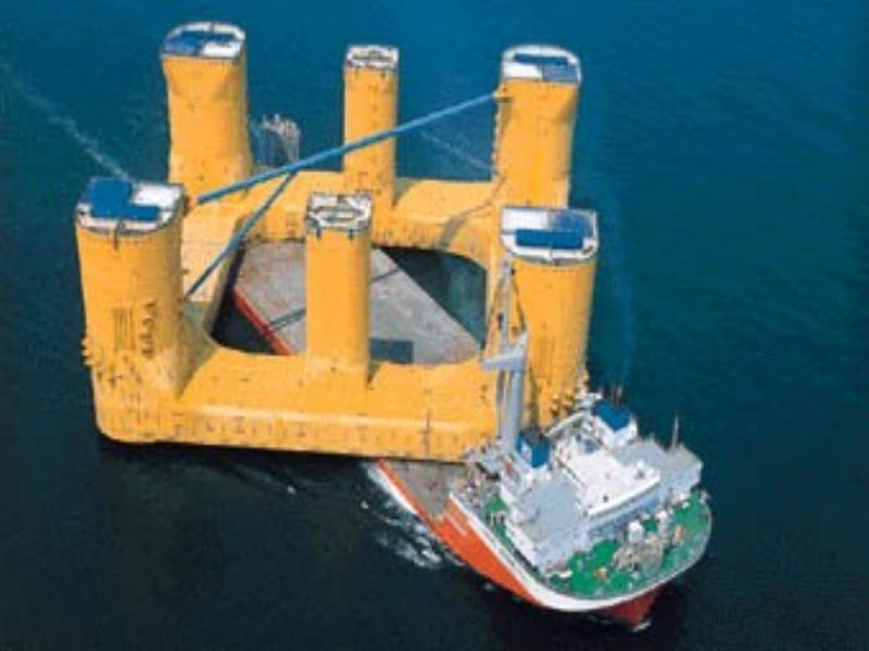 Plataforma marina sobre un barco