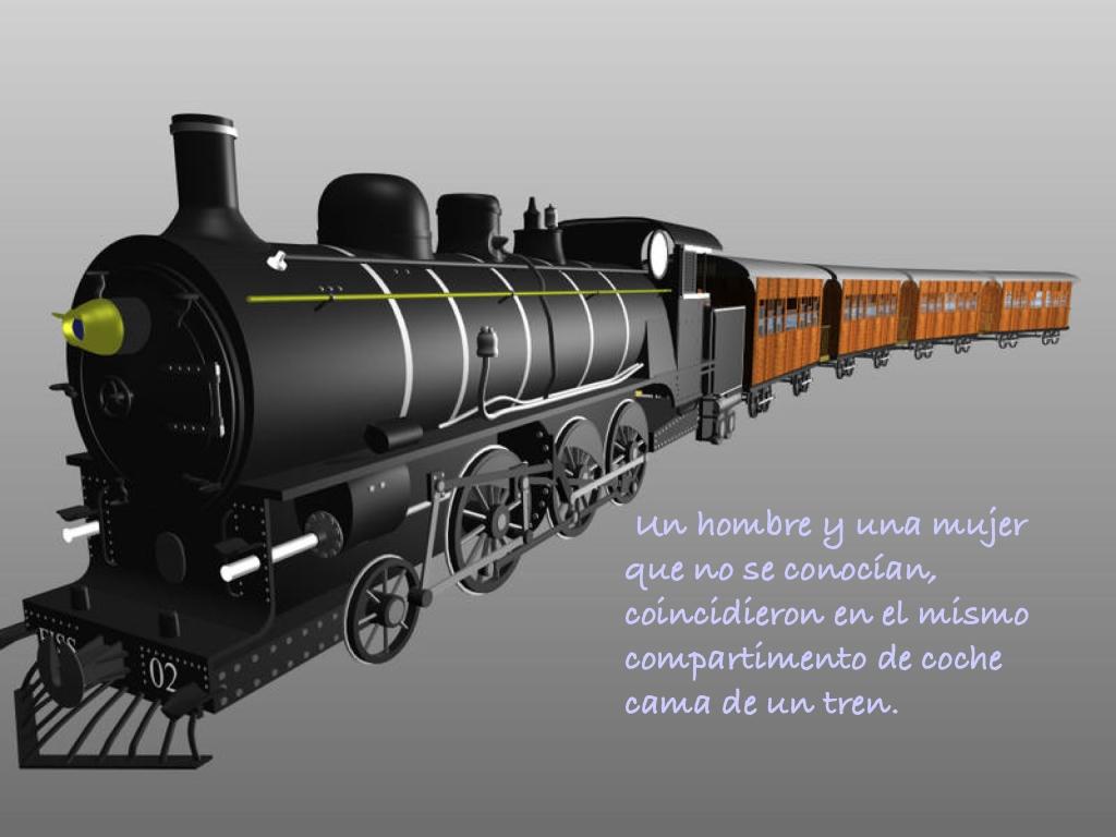 Tren de pasajeros con locomotora de vapor